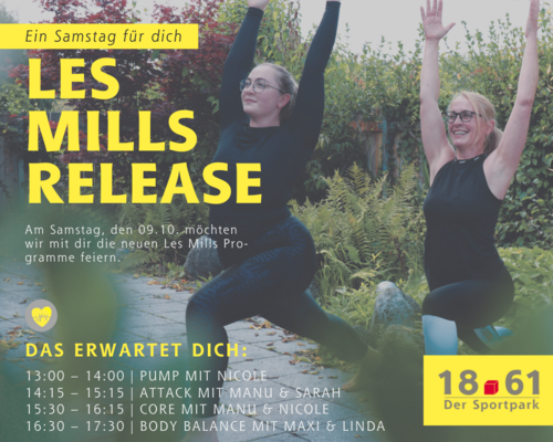 Les Mills Release am Samstag, den 09.10.