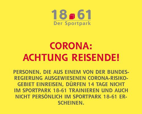 Corona-Reisehinweis